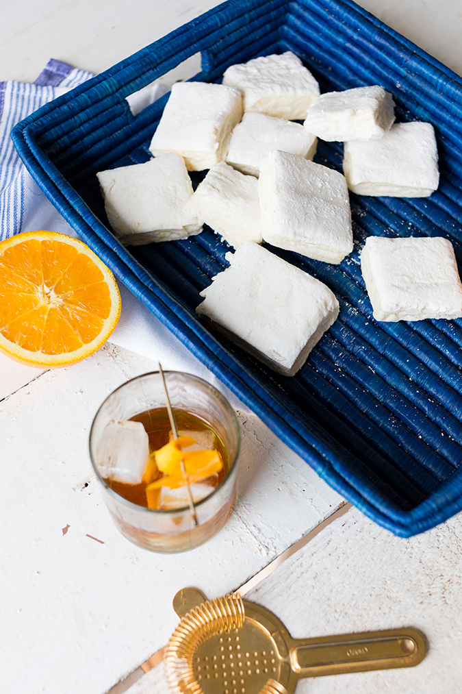 homemade marshmallows with orange whiskey marshmallows via laurenconrad.com