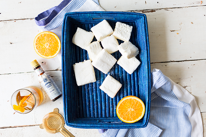 homemade s'mores with orange whiskey marshmallows via laurenconrad.com