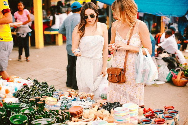 Lauren Conrad and Hannah Skvarla with The Little Market
