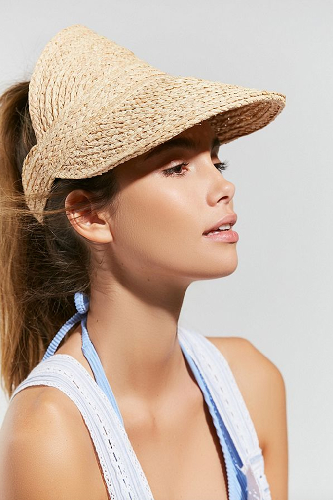 straw visor from UO