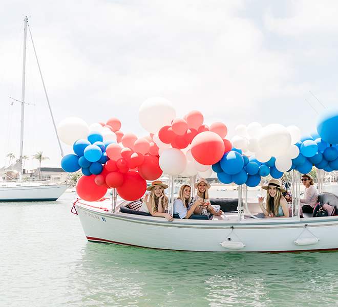 Party Planning: A Red, White & Blue Fourth of July Duffy Boat Party