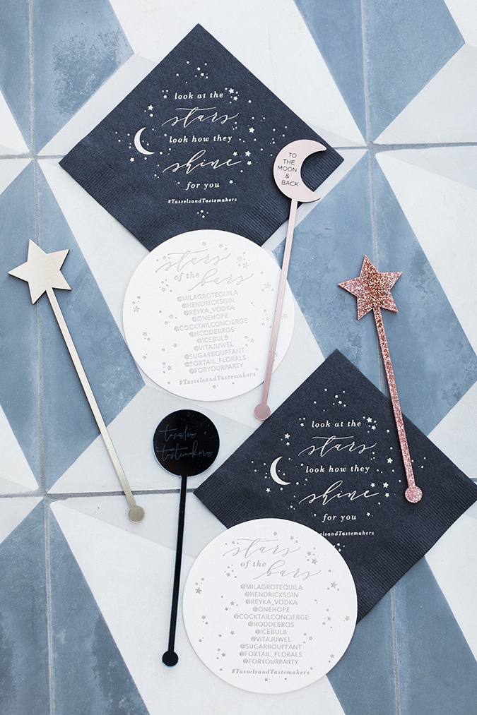 celestial themed tassels and tastemakers party