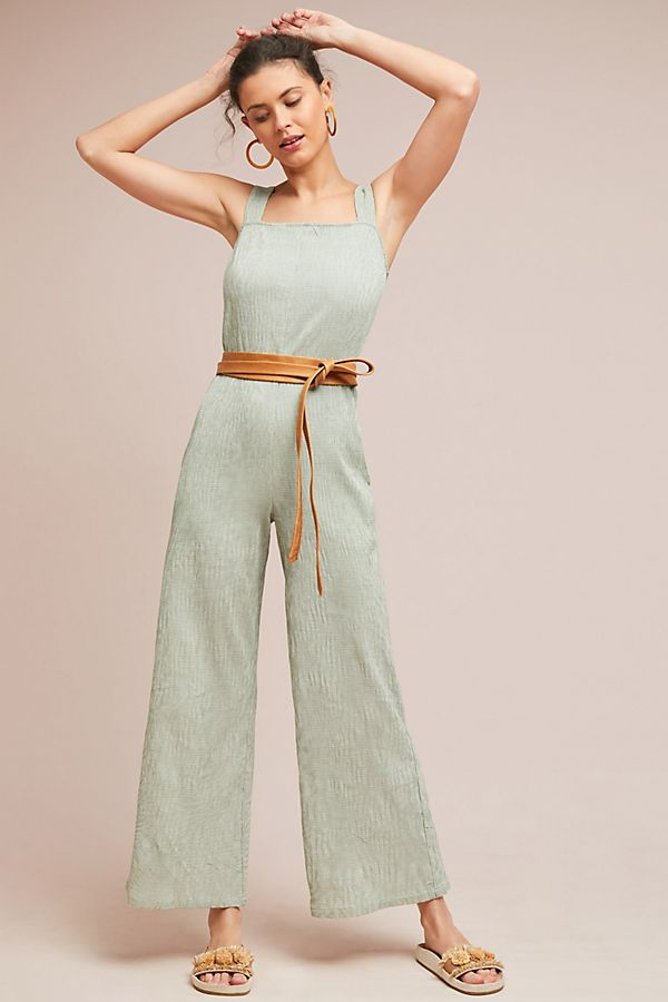 anthropologie wide leg jumpsuit