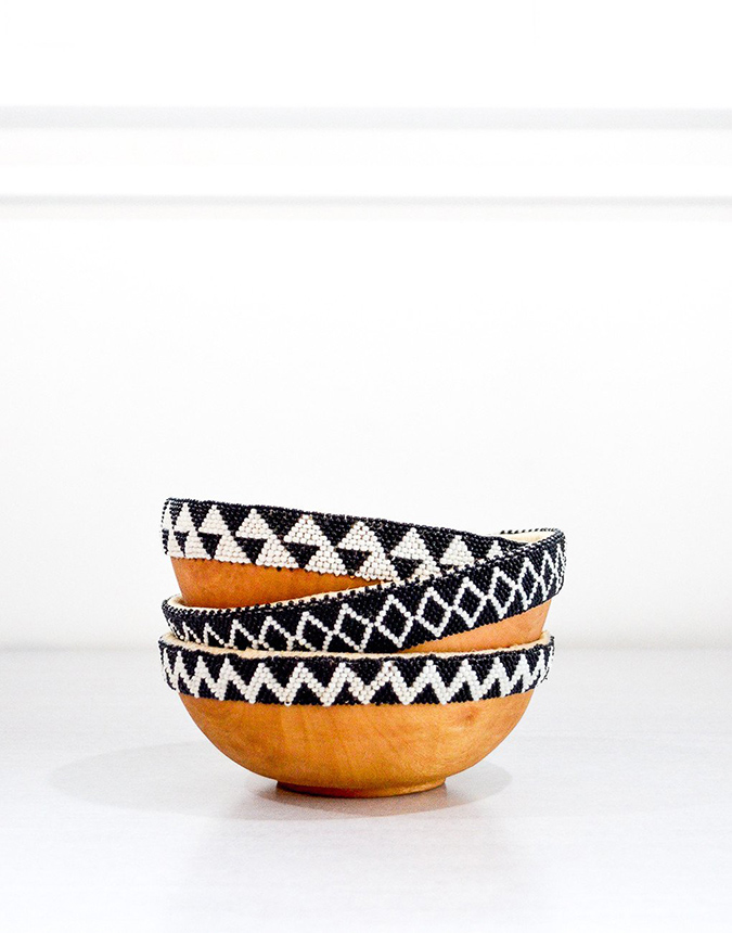 The Little Market wooden beaded bowls
