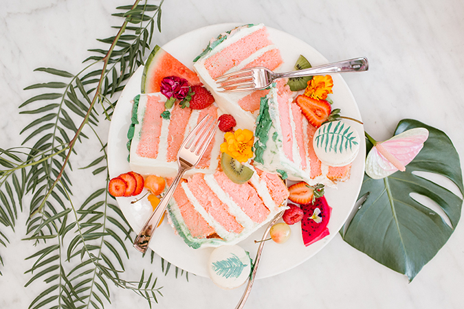 tropical flamingo themed party via laurenconrad.com