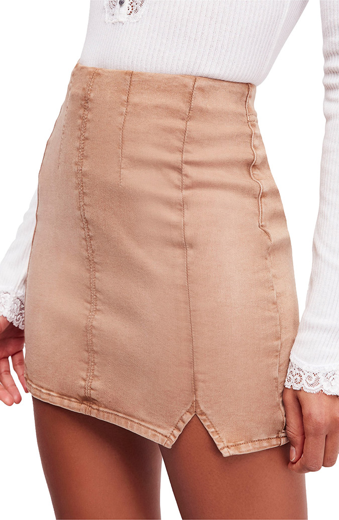 free people femme fatale mini skirt