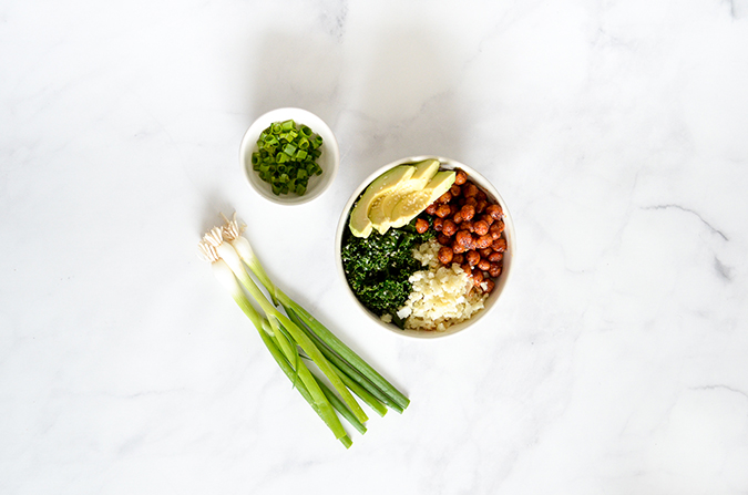 harissa chickpea bowl via laurenconrad.com