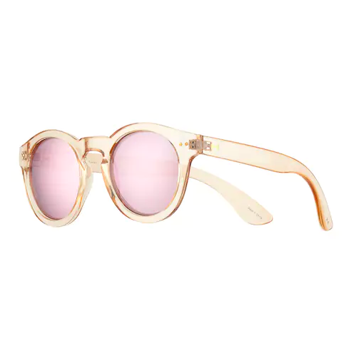 LC Lauren Conrad blush mirrored sunnies