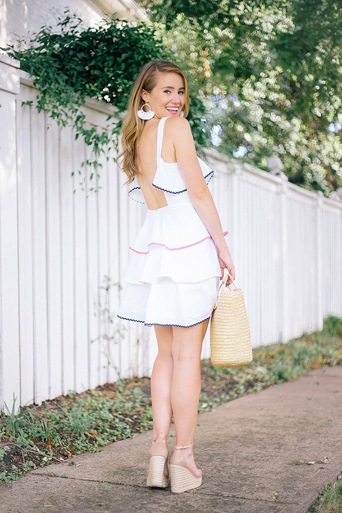 white sundress on Lonestar Southern