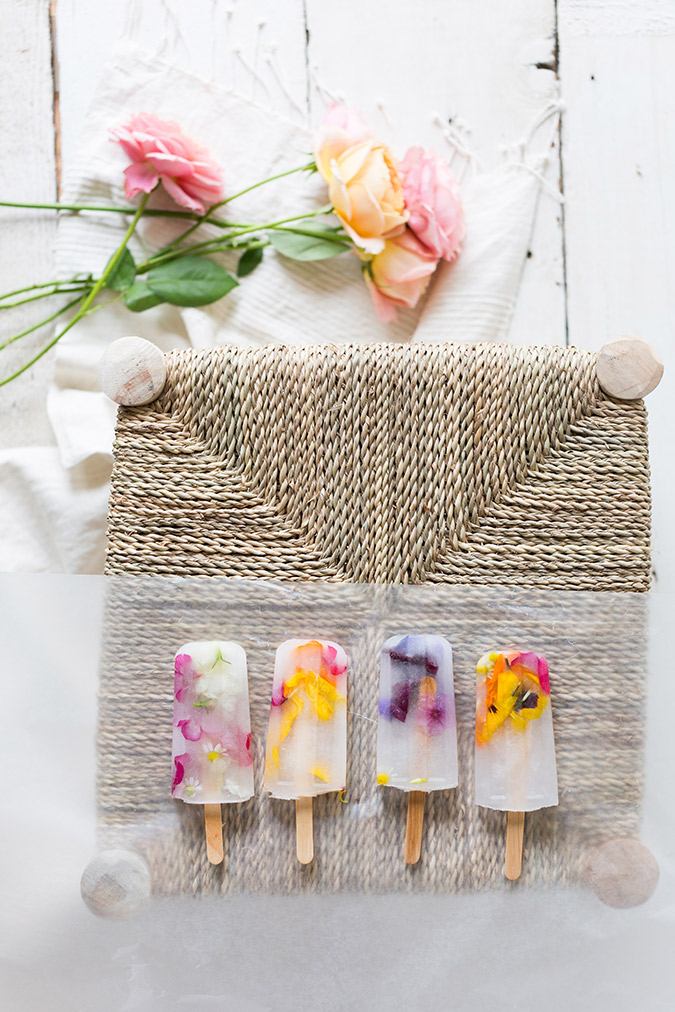 edible flower popsicles via laurenconrad.com