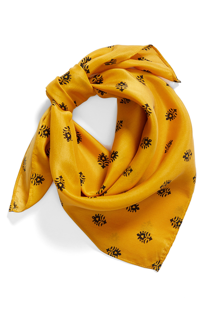 treasure and bond printed silk scarf
