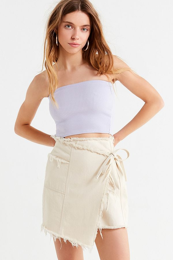 UO faux wrap mini skirt