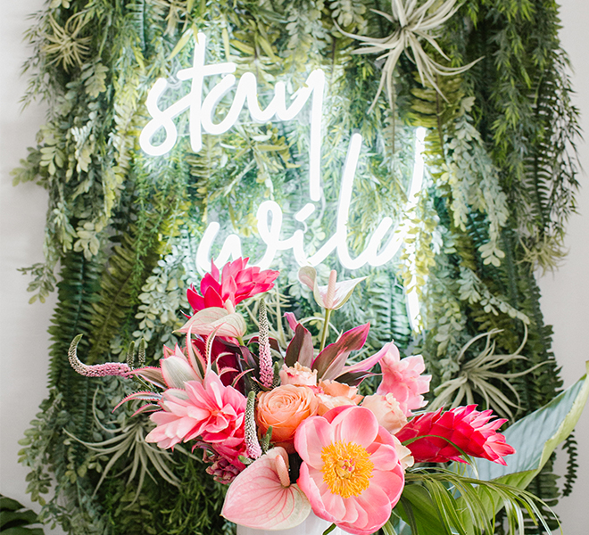 Party Planning: A Tropical Palm Leaf & Pink Flamingo-Themed Soirée