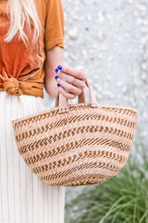 DIY basket bag tutorial
