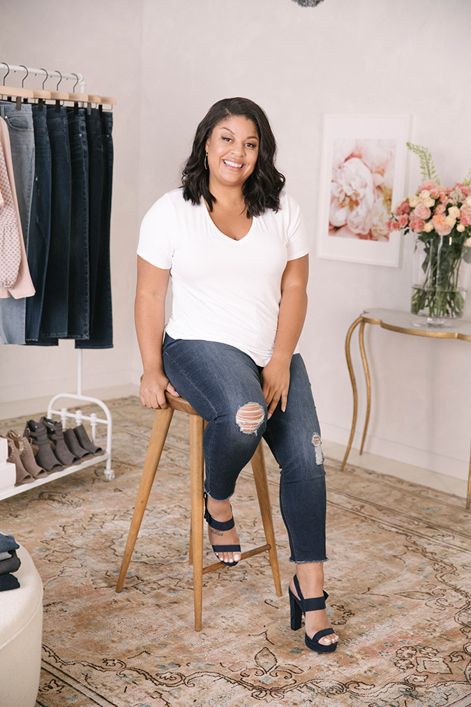Gavyn Taylor wearing the new LC Lauren Conrad Denim Collection for Kohl's