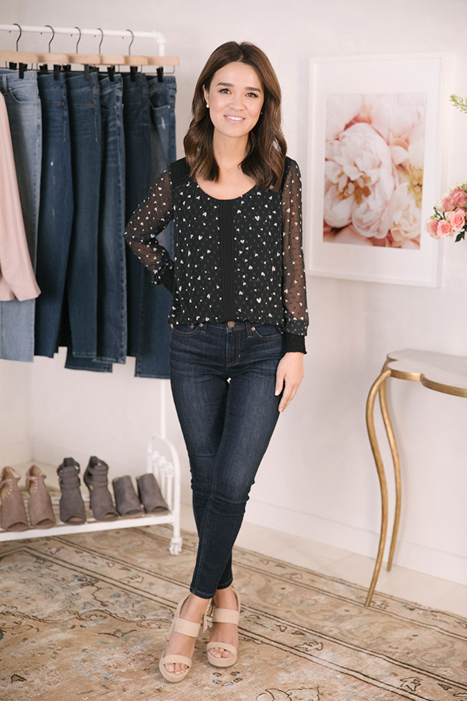 Hanh of The Hanh Solo wearing the new LC Lauren Conrad Denim Collection for Kohl's