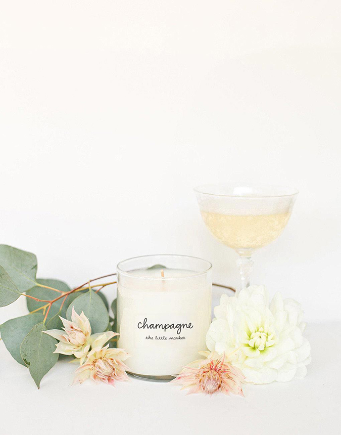 champagne scented candle from the little market