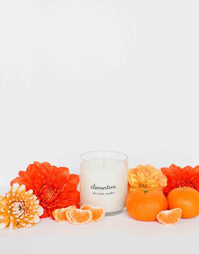 clementine scented candle from the little market