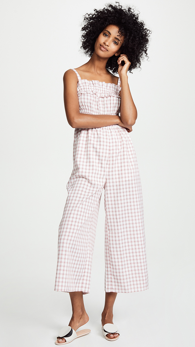 finders keepers smocked jumpsuit