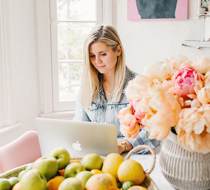 how to be productive when working from home via laurenconrad.com