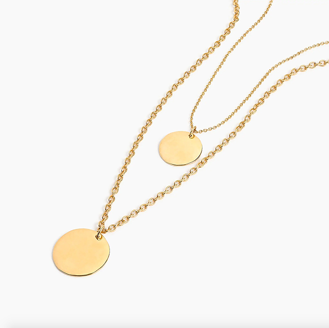 madewell layered coin necklace