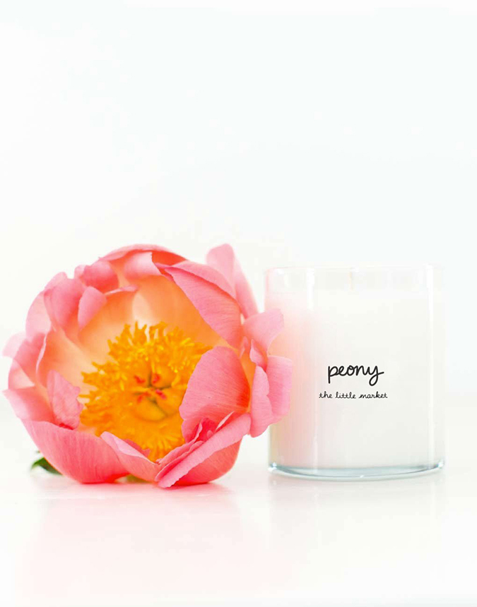 peony scented candle from the little market