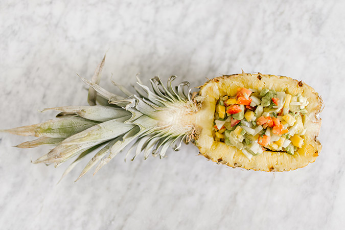 pineapple mango salsa recipe via laurenconrad.com