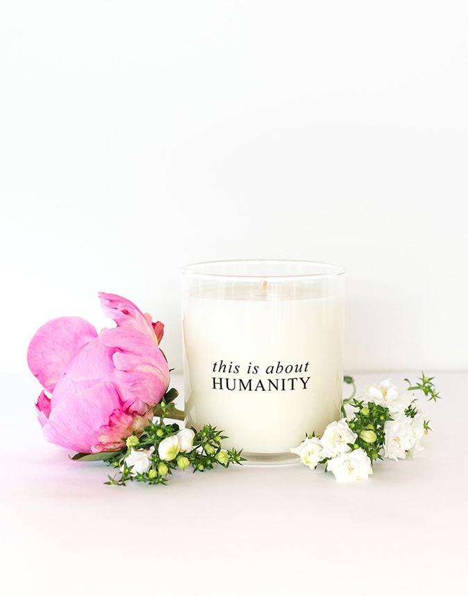 This is About Humanity candle