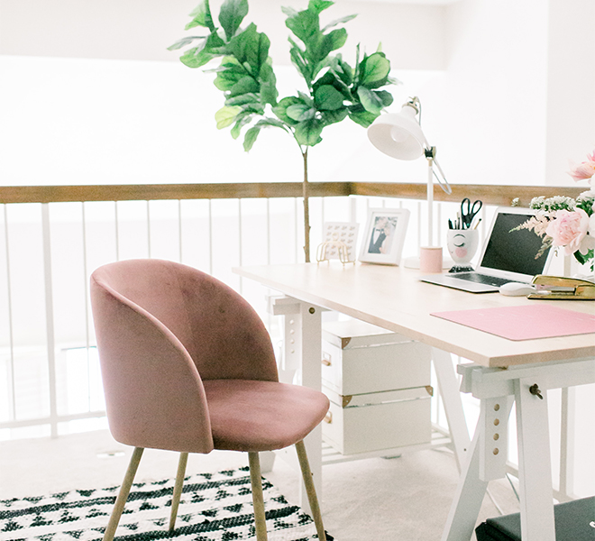 Home Makeover: POPPYjack Shop's Small and Stylish Home Office