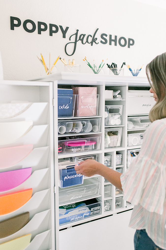 POPPYjack Shop's stylish home office makeover via laurenconrad.com