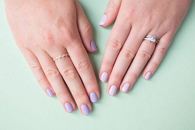two-tone manicure idea via laurenconrad.com