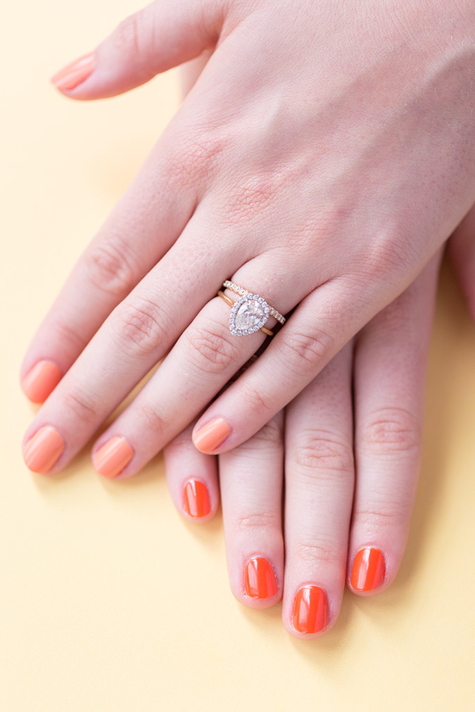 two-tone manicure idea via laurenconrad.com