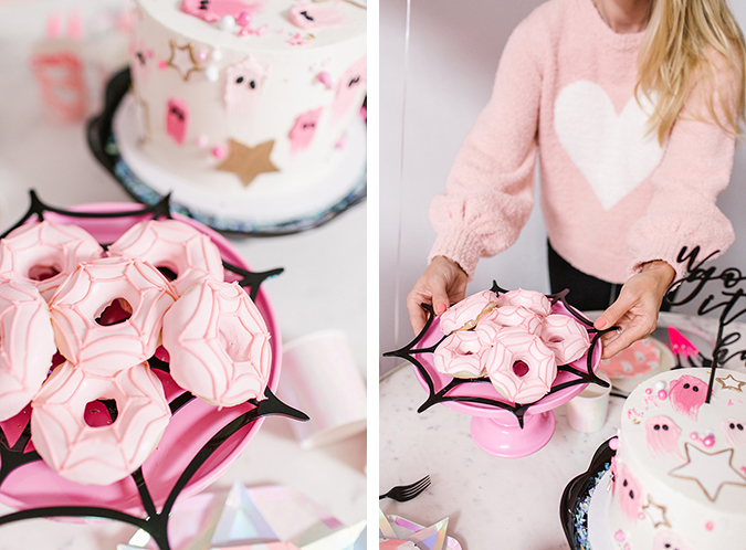 blush pink halloween party via laurenconrad.com