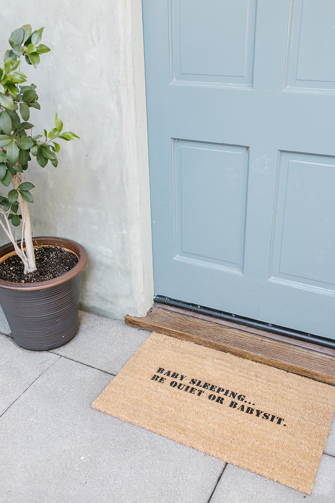 DIY stenciled statement doormat via laurenconrad.com