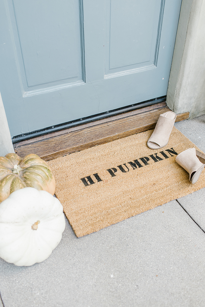 how to make a DIY statement doormat via laurenconrad.com