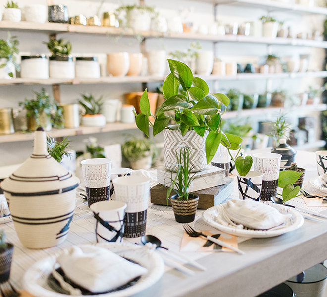 Party Planning: A Plant Shop Party Inspired by The Little Market Mudcloth