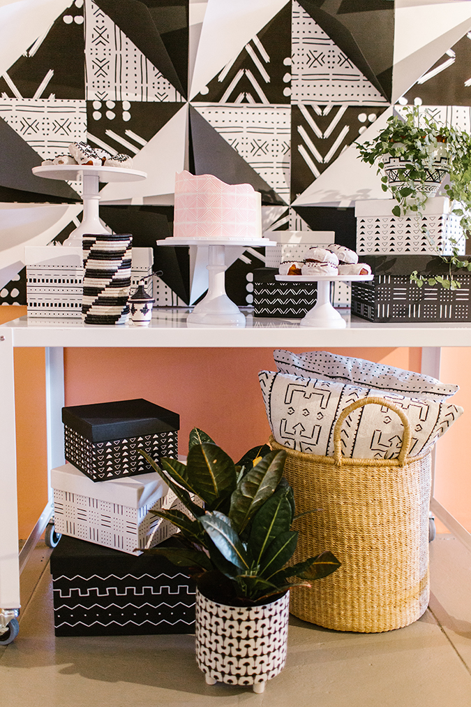 plant shop party inspired by The Little Market mudcloth via laurenconrad.com