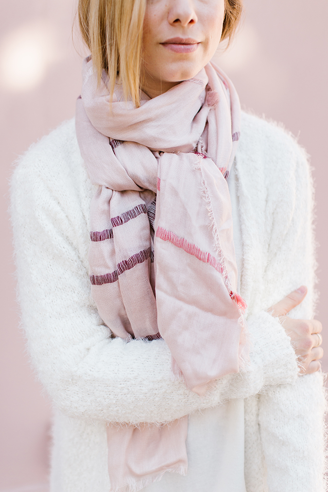 how to wear a scarf 3 ways via laurenconrad.com