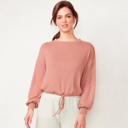 LC Lauren Conrad weekend drawstring sweatshirt