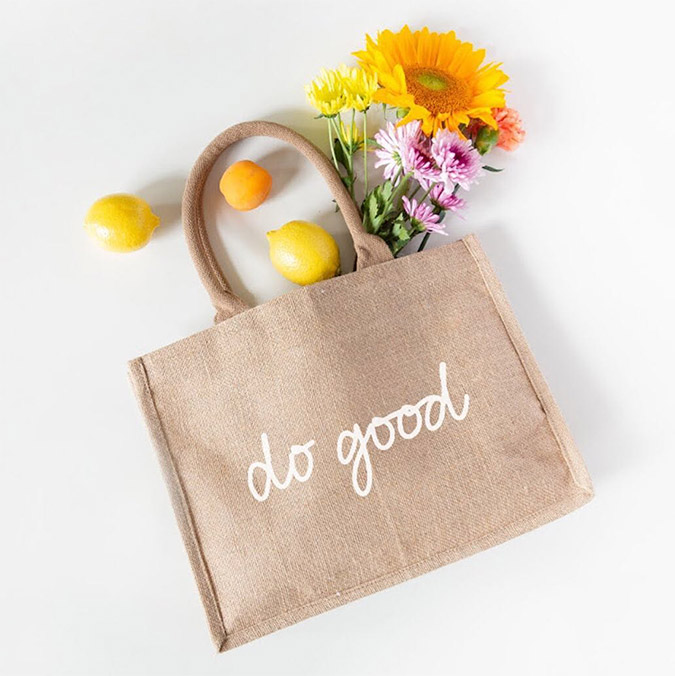 "the little market ""do good"" shopping tote"