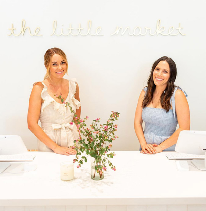 Lauren Conrad and Hannah Skvarla at The Little Market store opening