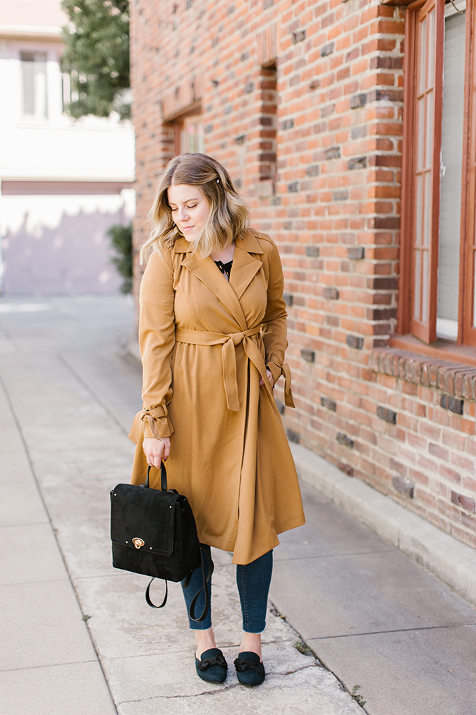 3 ways to wear a trench coat this fall via laurenconrad.com