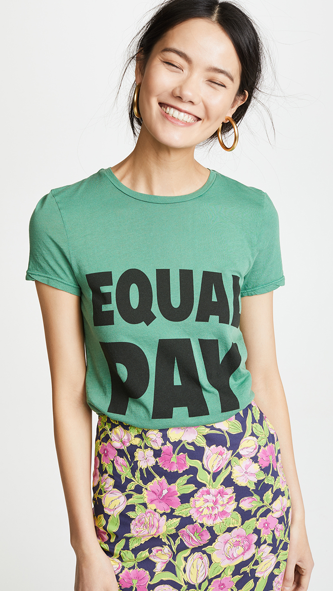 alice and olivia equal pay tee