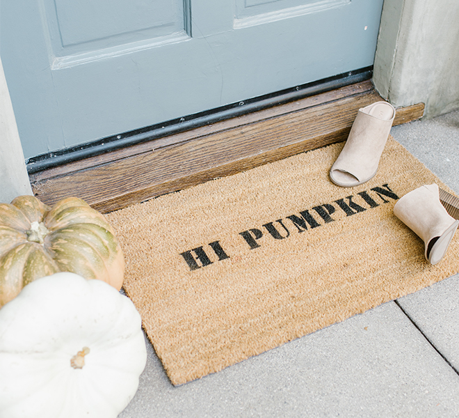 DIY: Stenciled Statement Welcome Mat