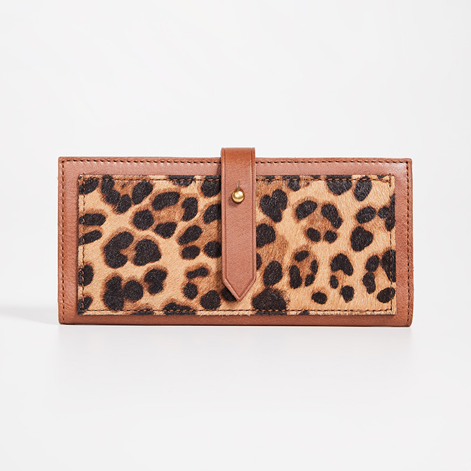 madewell leopard print wallet