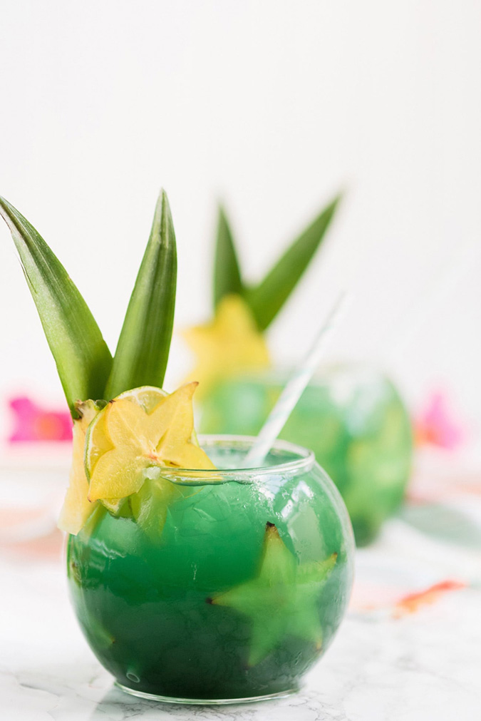 mermaid water cocktail via the sweetest occasion