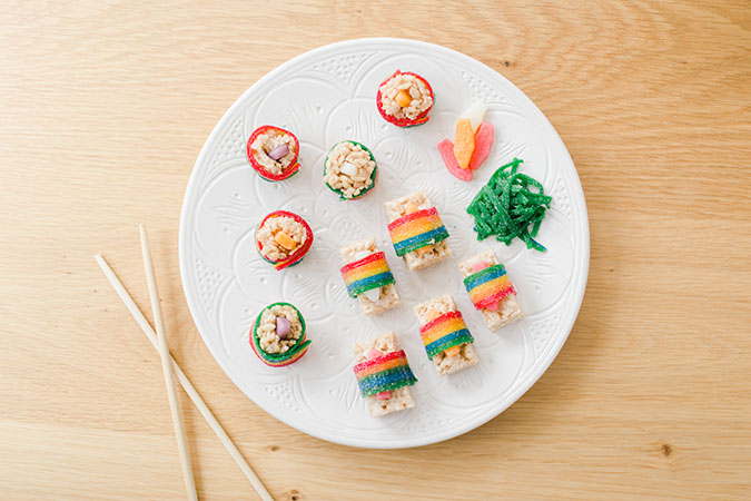 halloween candy sushi via laurenconrad.com