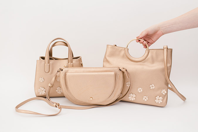 metallic fall handbags by LC Lauren Conrad