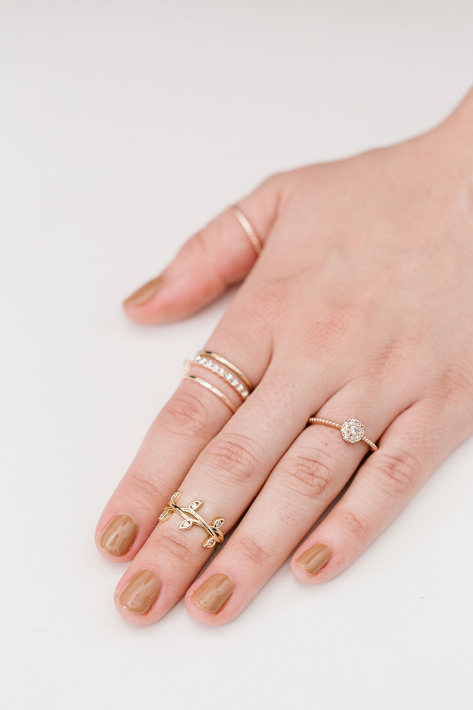 how to build the perfect ring stack via laurenconrad.com