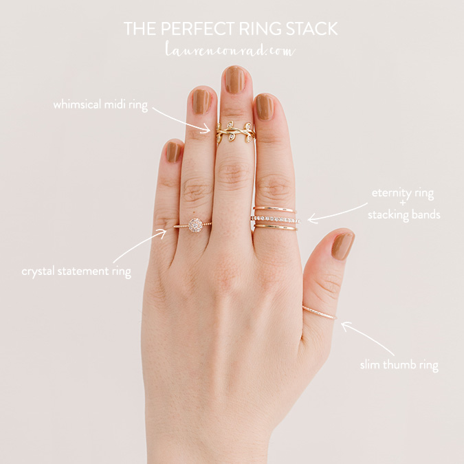 70ed8aae68886 Style Guide: How to Build the Perfect Ring Stack - Lauren Conrad